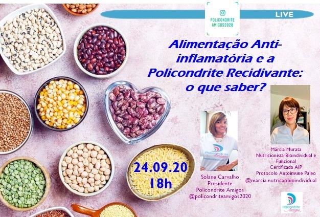 alimentação anti inflamatoria e policondrite recidivante